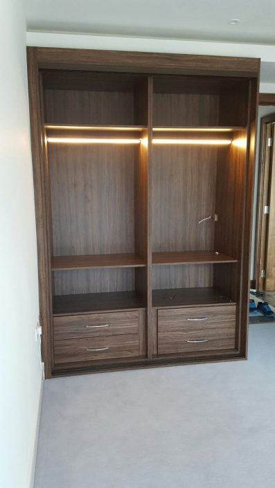 opened wardrobes