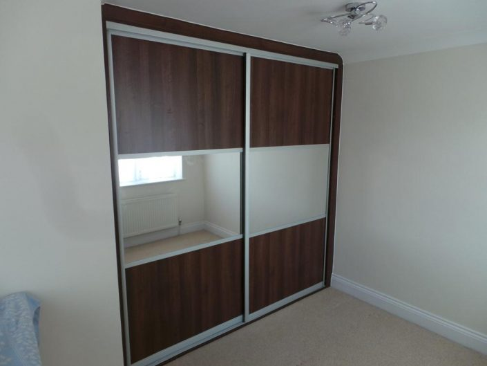 Dark Brown Sliding Door