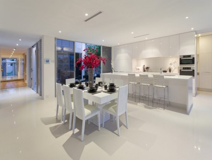 Gloss Finish White Kitchen