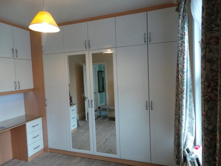 Hinged Mirror Door Wardrobe