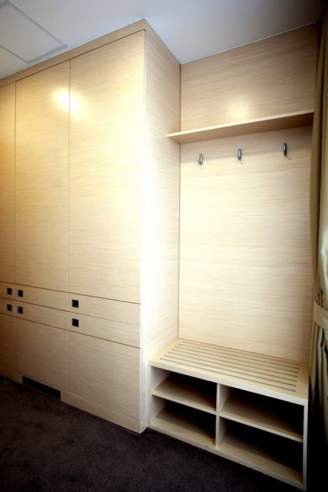 We also love simple designs – flat matt or gloss wardrobes.