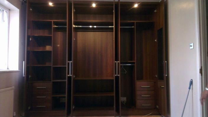 Wood Finish Fitted Wardrobe