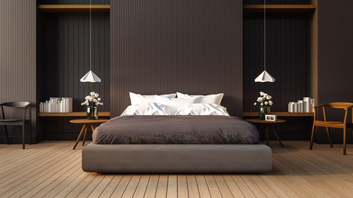 Modern Dark Fitted Bedroom