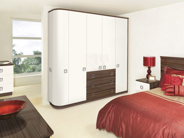 White Curved Doors