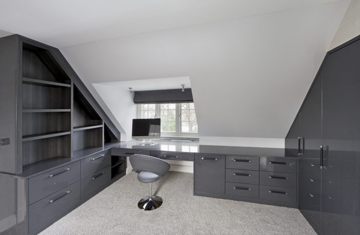Dark Grey Fitted Wardrobes