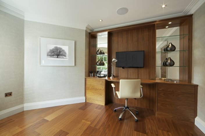 Wood Finish Home Office