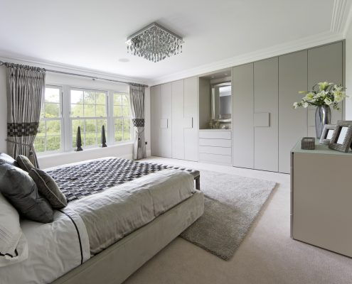 light grey fitted wardrobes