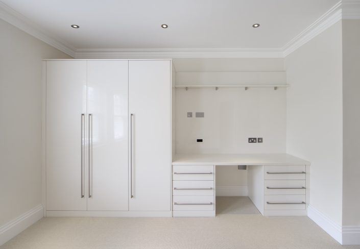 Bedroom Wardrobes with Desk Unit