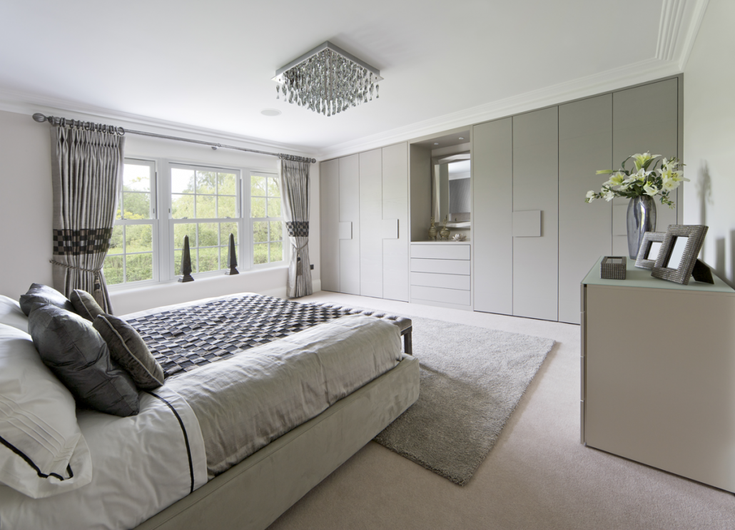 Exceptionnel Light Grey Wardrobes. Bedroom Fitted Wardrobes