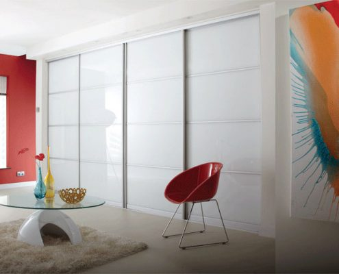 White Gloss Sliding Door
