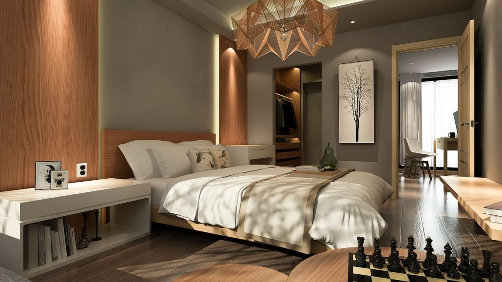 fitted bedroom in London brown