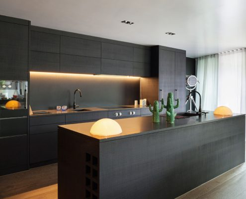Dark Grey Linen Kitchen Furniture in London