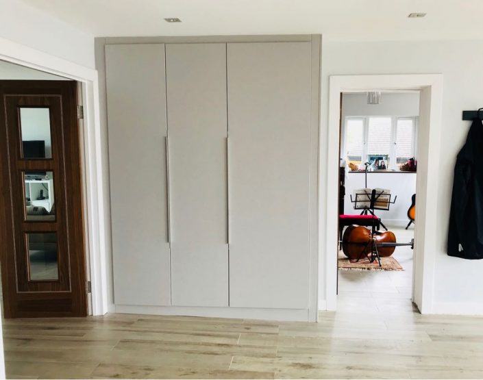 gray fitted furniture
