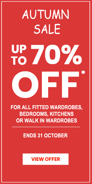fitted wardrobes sale 70% off