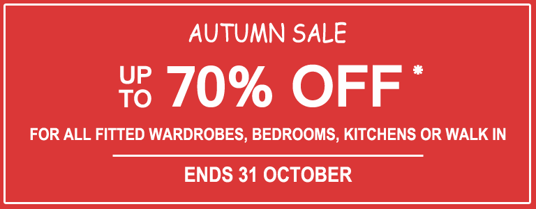 OCTOBER fitted wardrobes sale